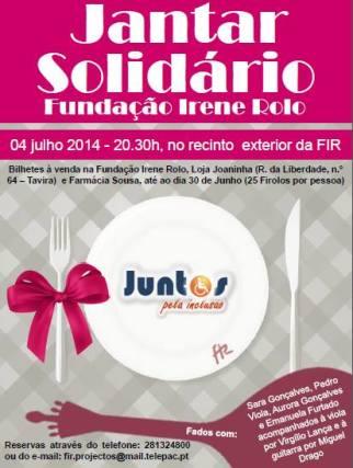 jantar solidário com fado