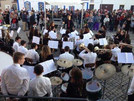 Banda de Tavira na Vila Natal Santa Luzia