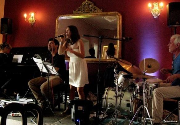 quarteto de jazz no clube de tavira