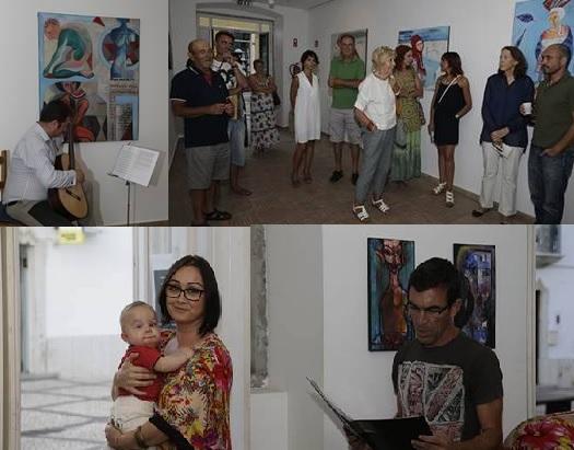 inauguração da exposição de Kinga na casa andré pilarte