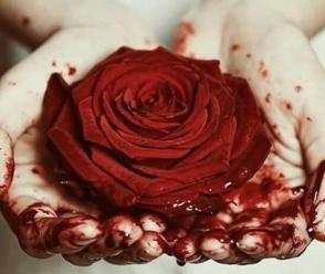 rosa sangue